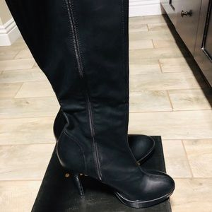 Tall boots 4 inch heels